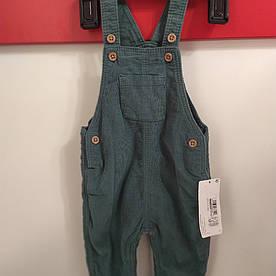 Вельветовые штаны комбинезон  M&S р.68см (3-6мес)