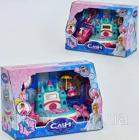 Кассовый аппарат Замок игрушка для девочек. Детская игрушечная касса музыкальная, светится., фото 2