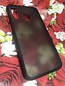 Чехол бампер накладка на Samsung A40 2019 (A405F) противоударный цветная окантовка черный красные кнопки, фото 2