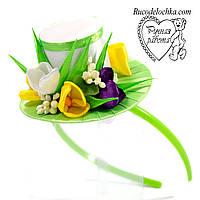 Капелюшок весняні квіти, весна, крокуси ручної роботи Будь-які кольори