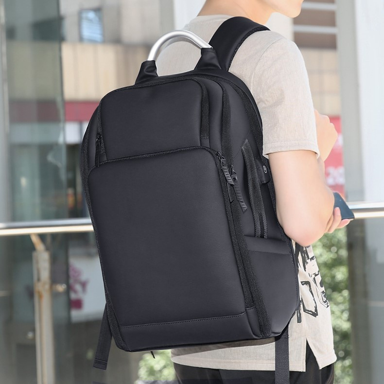 """Мужской Городской Рюкзак для Ноутбука 15.6"""" и Планшета ROWE (R8289) с Зарядкой Черный"""