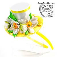 Капелюшок весняні квіти, весна, нарцис ручної роботи Будь-які кольори