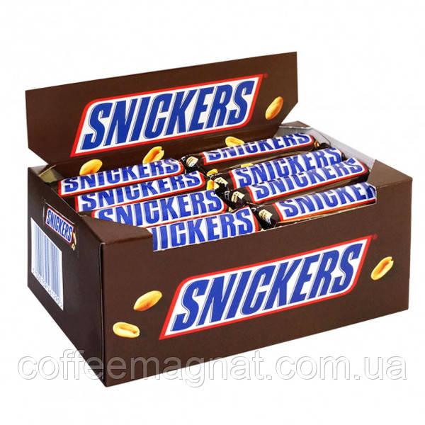 Батончик Snickers 50 г (упаковка 40 шт)