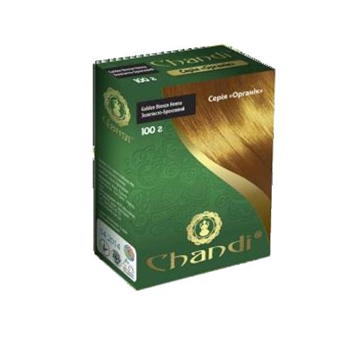 Краска для волос Хна органик цвет Золотисто- Бронзовый Chandi 100 г