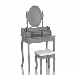 Туалетний столик Wooden Dresser C4 сірий + табурет (9203)