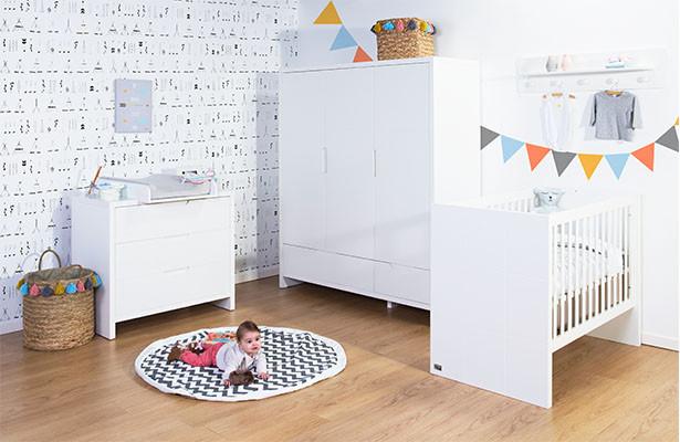 Колекція дитячих меблів CHILDHOME QUADRO WHITE