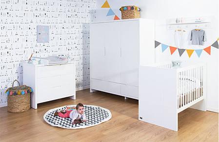 Коллекция детской мебели CHILDHOME QUADRO WHITE, фото 2