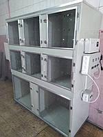 Ветеринарная клетка трехъярусная  с акриловыми дверками  1500*1700*600
