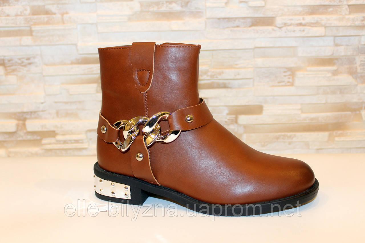 Ботинки женские коричневые Д625