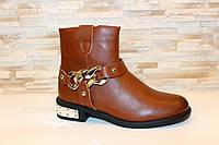 Ботинки женские коричневые Д625, фото 1