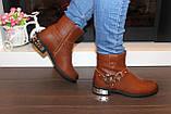 Ботинки женские коричневые Д625, фото 5