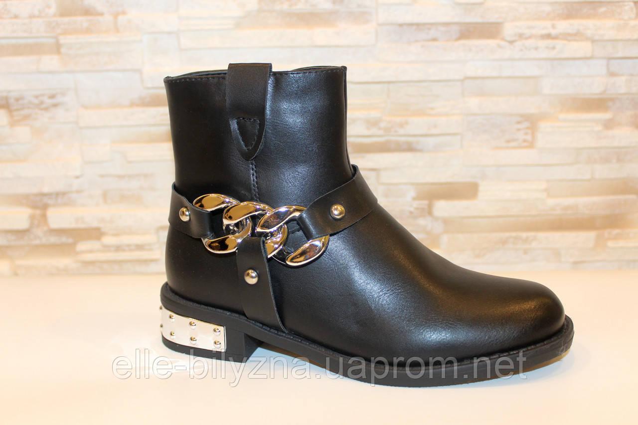 Ботинки женские черные Д626