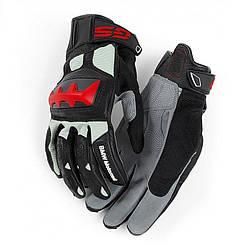 Оригінальні мотоперчатки BMW Motorrad Rallye Glove, Unisex, Black / Red, артикул 76218395240