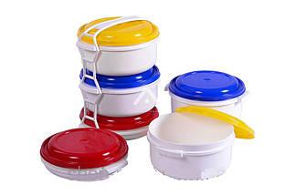 Комплект судків для харчових продуктів комплект 2 шт 1 л ; 1 шт 0.5 л
