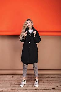 Женское пальто букле оверсайз размер 42-52