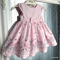 """Нежное платье для новорожденной """"Аврора"""", 0-3 месяца, 56-62 см, 100% хлопок."""