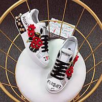 Шикарные кожаные сникерсы Dolce & Gabbana в люкс качестве