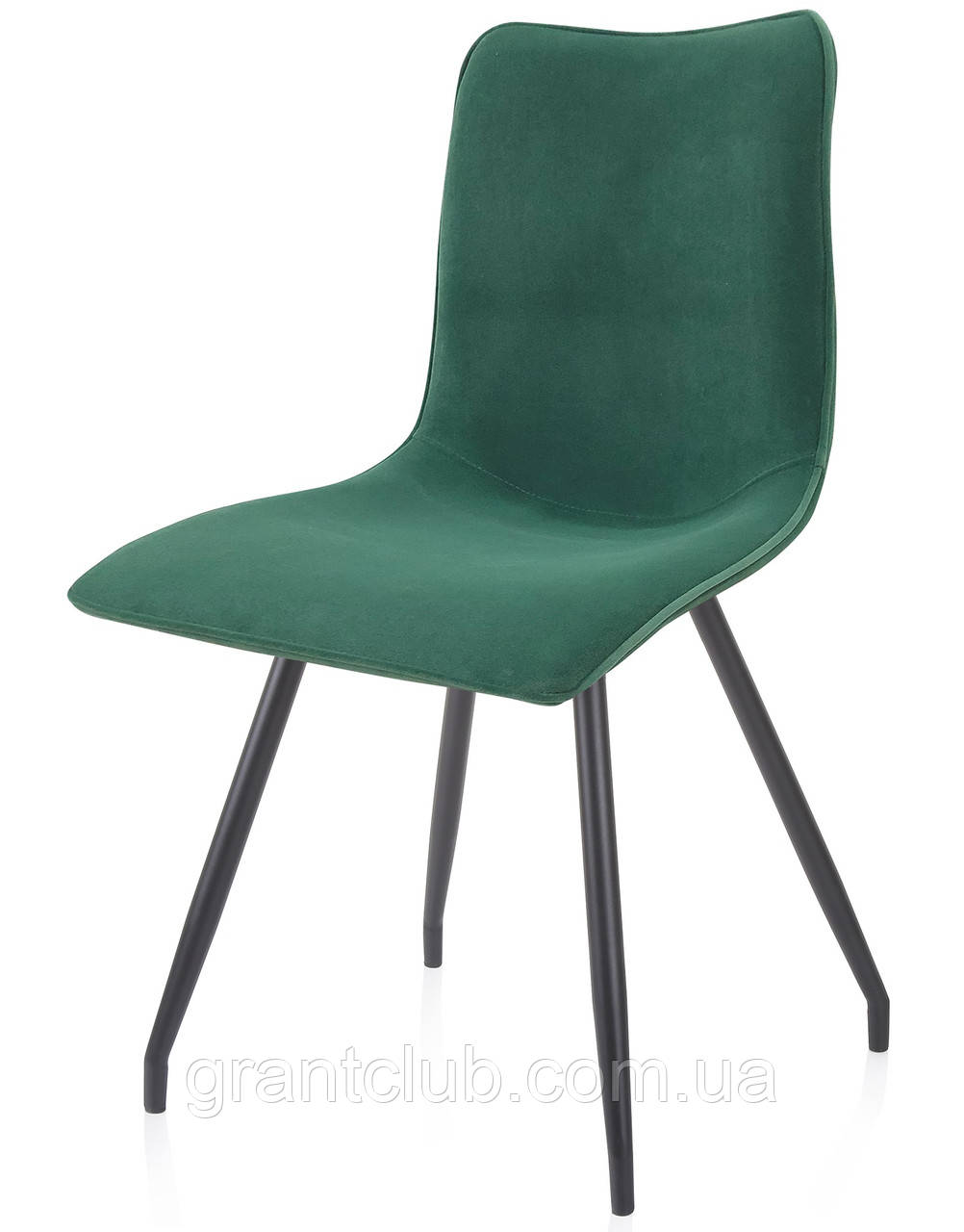 Мягкий стул N-76 тёмно-зелёный вельвет Vetro Mebel