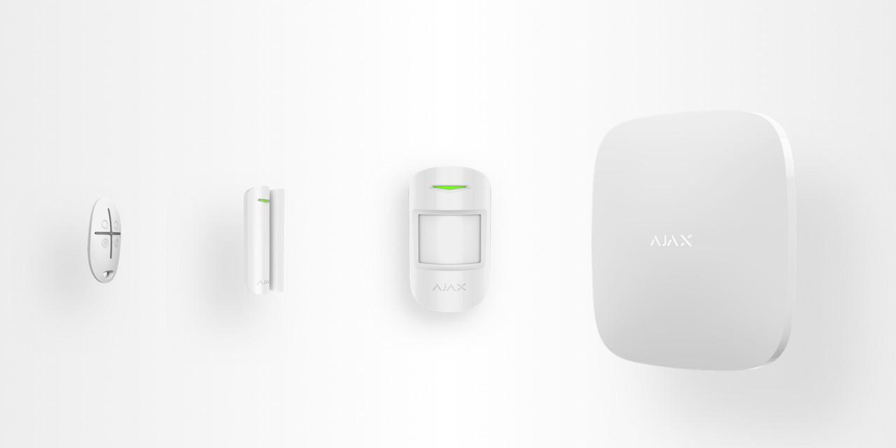 Стартовый комплект системы безопасности Ajax Белый