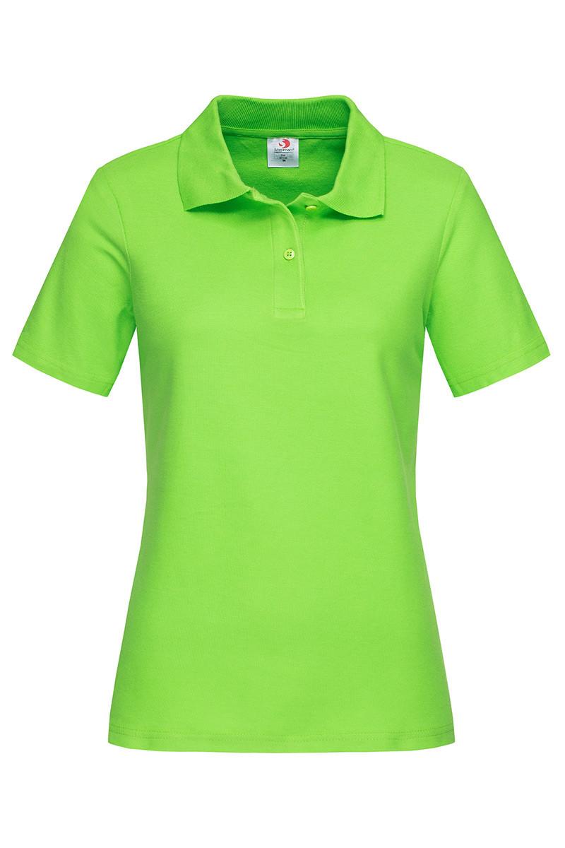 Футболка поло женская зеленая (салатовая) с воротником Stedman - KIWСТ3100
