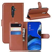 Чохол-книжка Litchie Wallet для Oppo Reno 2 Brown