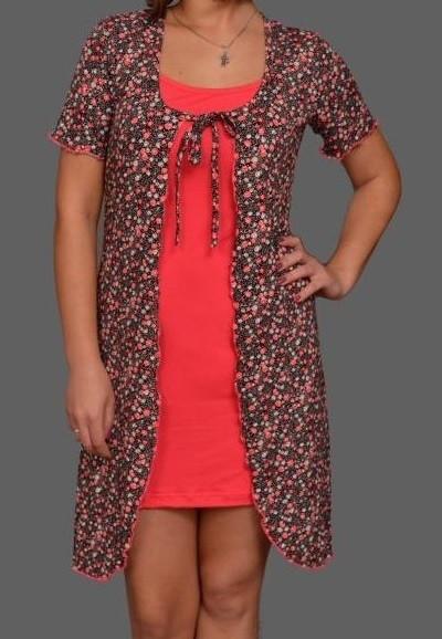 Домашний комплект женский халат и сорочка бретеливискозадомашняя одежда Украина