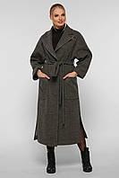 Кашемировое классическое женское пальто батал, размер от 50 до 60