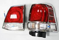 Toyota LC 200 Хром накладки на стопы
