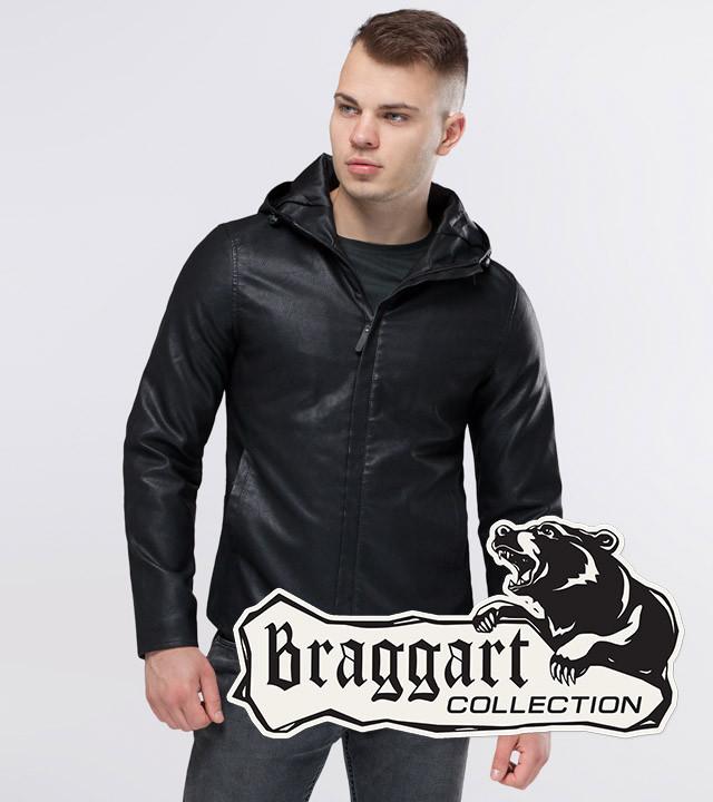 Braggart Youth | Куртка экокожа 15353 черный