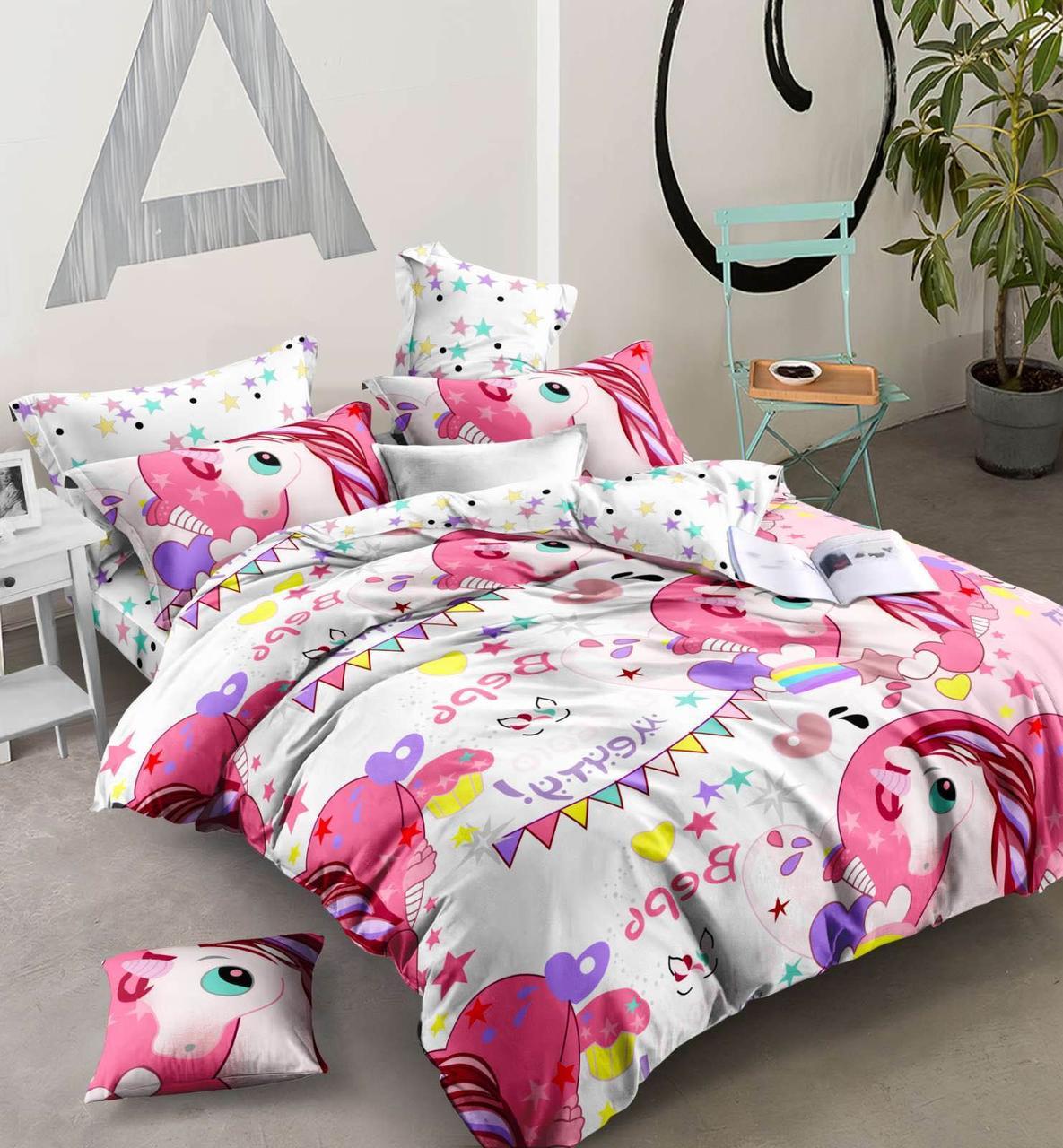 Яркое детское постельное белье единорожки пони