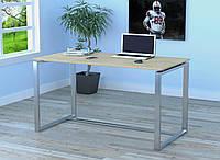 Стол письменный в стиле Loft Q-135-без царги и без отверстия под провода-LoftDesign Дуб Борас