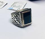 Серебряная печатка с ониксом Луиджи, фото 3