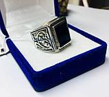 Серебряная печатка с ониксом Луиджи, фото 5