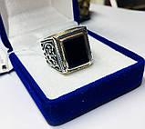 Серебряная печатка с ониксом Луиджи, фото 6