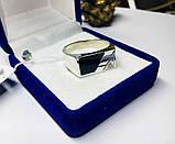 Серебряная печатка с ониксом и цирконом Фабио, фото 2