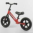 Велобіг (беговел) дитячий Corso 32003, колеса з спіненої гуми (eva) 12 дюймів, червоний, фото 2