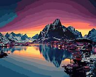 "Картина по номерам. Brushme "" Северный закат "" GX21713"