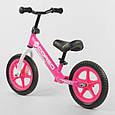 """Беговел-велобег детский Corso 21001, стальная рама, колесо 12"""" EVA (пена), розовый, фото 2"""