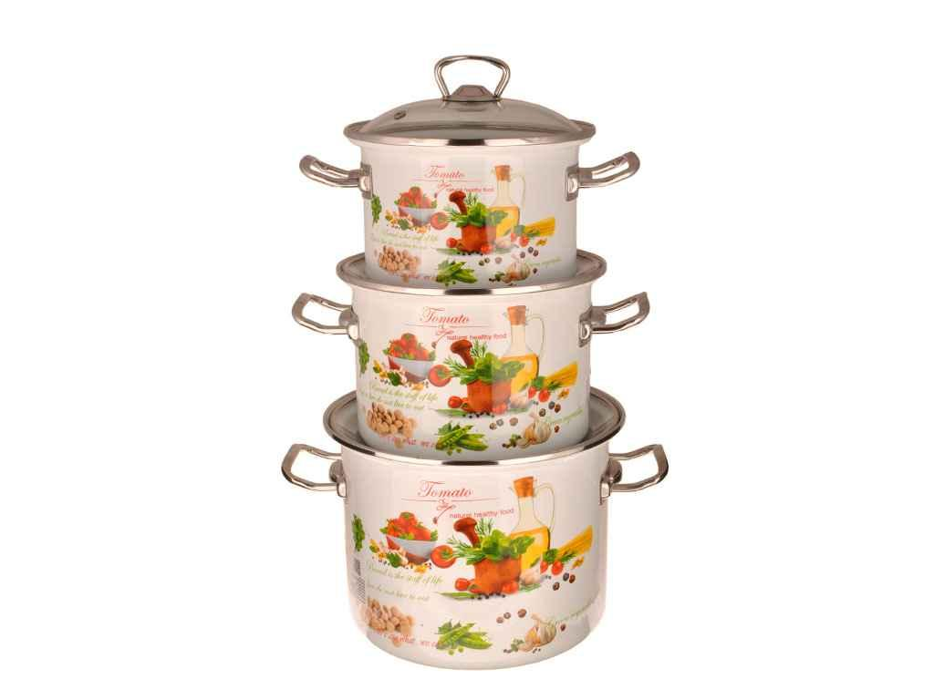 Набір емальованого посуду ТМ Idilia №1500 Томато (359797)