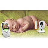 Видеоняня Video baby Monitor с функцией ночного видения и датчиком температуры Бело-зеленый (LS101005359), фото 4
