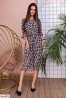 Шифоновое красивое практичное платье длины миди  арт 5154