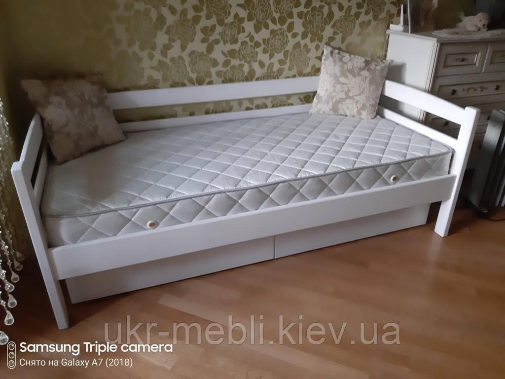 Кровать полуторная Лиза 90 из массива дерева