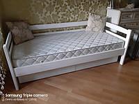 Кровать полуторная кушетка Лиза из массива дерева, нота. Киев