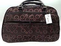 Водонепроницаемая текстильная сумка-саквояж для путешествий коричневая