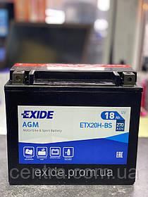 Мото аккумулятор EXIDE ETX20H-BS 18Ah