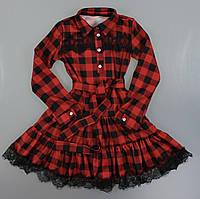 {есть:140} Платье для девочек, 128-164 рр. Артикул: 5222-красный