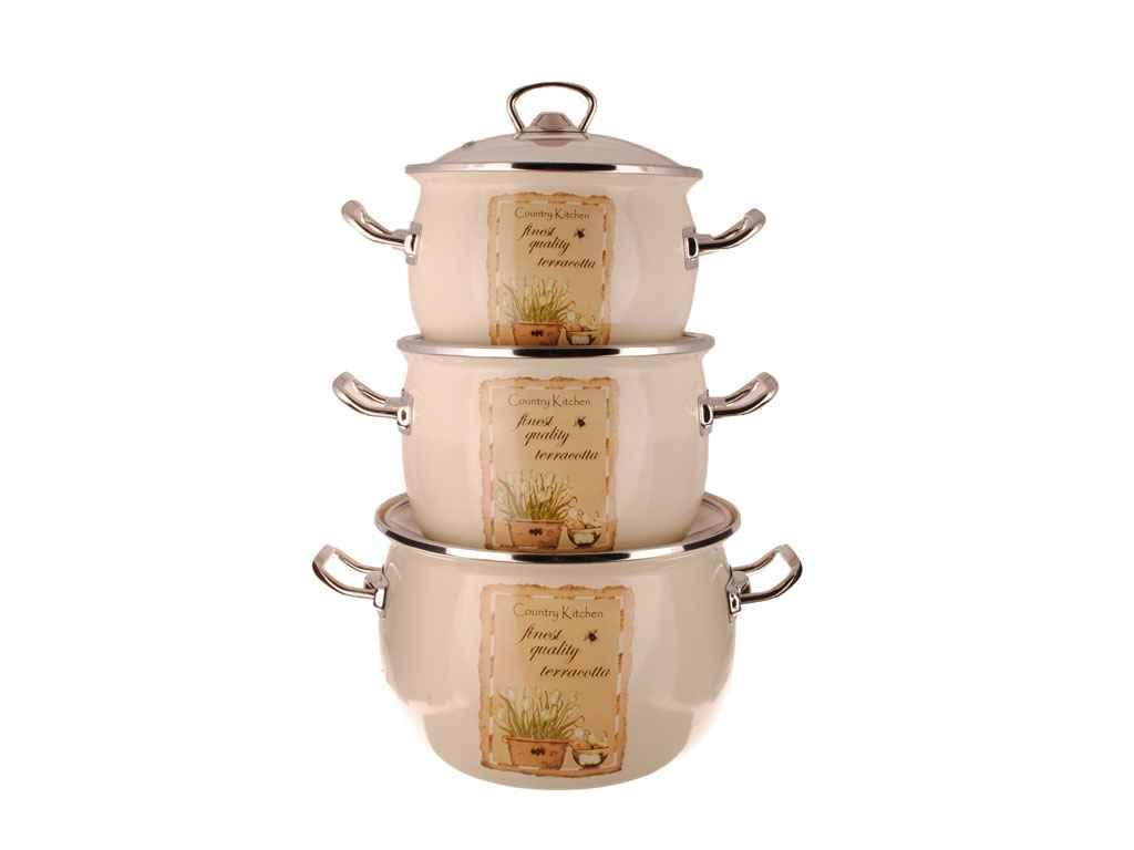 Набір посуду 3 предмети №1600 IDILIA Натюрель (520499)