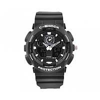 Мужские наручные часы S-SHOCK с подсветкой Black-White (LS1010053800), фото 1