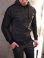 Мужской спортивный костюм  змейка графит, фото 1