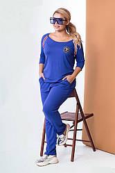 Спортивный костюм синий Большой размер